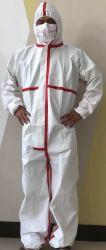FDA Ce de la sécurité personnelle Coverall non tissés jetables Costume d'isolement des vêtements de protection antibactérienne Dust-Proof PPE PVC Combinaison Combinaison de protection
