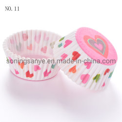 El papel resistente a la grasa de la copa para hornear magdalenas pastel Cupcake Cup impresos desechables