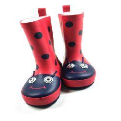 Red adorável Toddler Botas de chuva Design de insetos para crianças