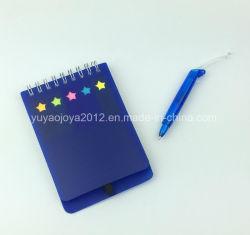 Ordinateur portable coloré autocollant de mémo de l'école avec trou Star