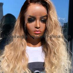 Ombre 1b marrón claro Cabello pelucas Ombre peluca delantera de encaje de color con el cabello del bebé para las mujeres brasileñas Remy sin pegar de cabello pelucas de encaje