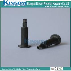 Ribattino semi tubolare zigrinato della testa piana su ordinazione del acciaio al carbonio