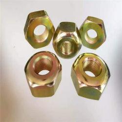 DIN439 Delgado la tuerca hexagonal de zinc amarillo