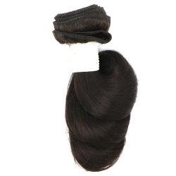Couleur naturelle lâche Tissage de cheveux humains brésilien d'onde