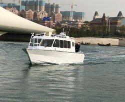 Aquland 37m 12m 15personas Casa de la cabina de aluminio de ferry de pasajeros Taxi Acuático/aluminio Speedmotor Patrulla de Rescate de piloto de barco (AL 1200cc)