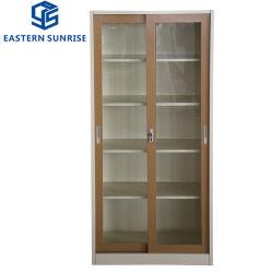Instituto de alimentação utilizar o vidro corrediço de porta de vidro amovíveis armário de arquivos de Aço