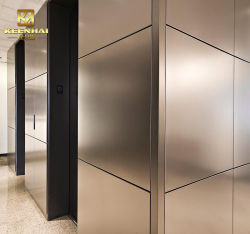 La construcción interior de la pantalla de pared metálica de acero inoxidable para el ascensor (KH-WC003)