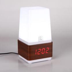 Lampada moderna da tavolino di notte della Tabella di tocco dello scrittorio di Kh-Wc019 LED con la sveglia del visualizzatore digitale del LED