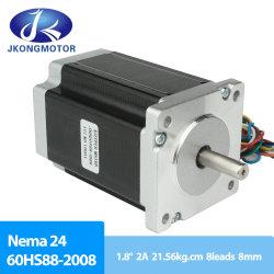 2 Phase Hybrid Stepper Motors NEMA24 1.8 درجة Jk60HS88-2008