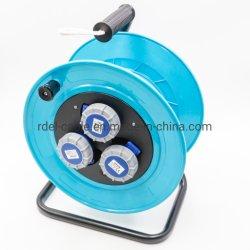Berufskabel-Bandspule 25 m-Kabel mit 4 Gummi der Schuko Kontaktbuchse-2.5 mm2 IP44 im Freien3680 W 230 V