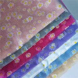 服のスカートのためのヒナギクの花柄のオーガンザファブリック