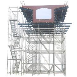 Sistema Ringlock Scaffold galvanizado com escada da torre e elemento de aço