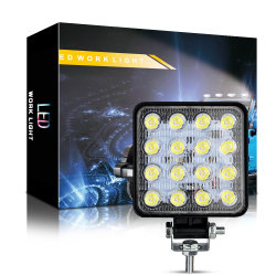 Dxz 4인치 LED 작업등 바 48W 16LED 스팟 트럭 지프 오프 로드 SUV 4X4 JK의 빔 작업등 4WD