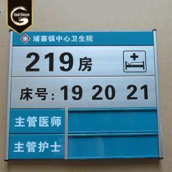 Inneneinrichtung Aluminium Wand Hängenden Büro Unternehmen Schilder Bau Metall Signage
