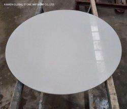 سعر جيد جعل رجل الكوارتز الحجر مخصص Pure/White/Black/beige/Gray Round Table قمة مناطح الضيافة