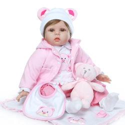 Amazon реального 18 22-дюймовый плач ручной работы NPK силиконового герметика новорожденных возрождается Детский Бебе куклы для девочек мальчик