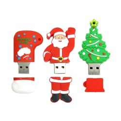 عيد ميلاد المسيح ترويجيّة [سنتا كلوس] [سنومن] أشجار هدايا منخفضة سعر [أوسب] قرص فلاش، شريحة مطاطية، USB، ذاكرة سعة 4 جيجابايت