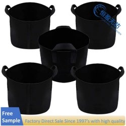 Pack 25 Gallon Plant Grow Bags Non-Woven Aeration Fabric Pots