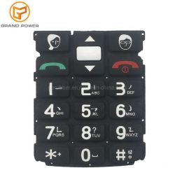 Kundenspezifische Handy-Zubehör-leitender Silikon-Mobiltelefon-Druckknopf-Tastaturblock für Handy