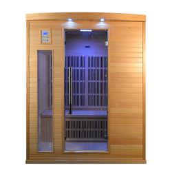 클래식 디자인 3인용 실내 원적외선 사우나, 탄소 히터