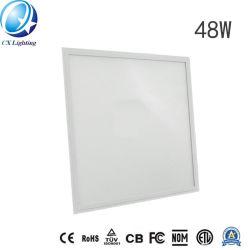 Nuevo ángulo de haz de alta calidad de 120 grados 600*600 Square luces del panel con retroiluminación LED plana tipo 48W