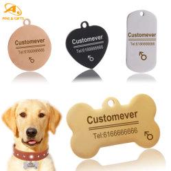 طباعة sublimation فارغ مخصص قطع بالجملة أزياء Xvideos USB الذهب GPS المغناطيسي شكل العظام المعدنية علامة الكلب الحيوانات الأليفة الملحقات