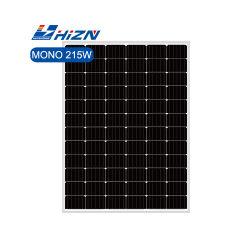 제조업체 도매 새로운 고효율 215W 72셀 모노 크리스탈 라인 솔라 패널