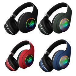 Regalos de Navidad música en MP3 Player Deporte Luz LED a través de Ear Wireless Studio auriculares Bluetooth para iPhone