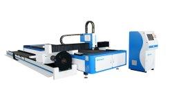 لوح صفائح معدنية من الفولاذ المقاوم للصدأ أو دائرة حول القطع الناقص و أنبوب مربع أنابيب CNC آلة قطع ليزر ألياف مع IPG 3000 واط