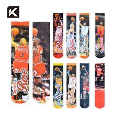 Sublimation druckte Sport-Basketball-Anfangskühle Mann-Socken