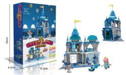 Bloques de construcción de castillos de la educación para niños