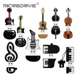 Regalo promozionale PVC USB Memory Stick Disk Cartoon strumento musicale Unità flash PEN Drive