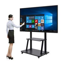 Electronic School tudo numa só placa digital LCD para escrita branca Quadro interativo TV de ecrã tátil Smart Whiteboard