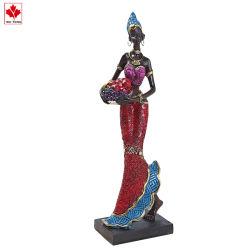 صارّة يد عالة راتينج إفريقيّة إمرأة يسكن تمثال صغير زخرفة