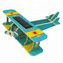 레이저 컷 나무 장난감 아이들 교육 태양열 장난감 비행기