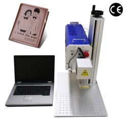 Bewegliches Laser-Ausschnitt-Gerät für Drucken-Firmenzeichen auf ledernem Tuch