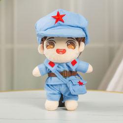 中国様式の軍の衣服のプラシ天の卸し売り 20cm の偶像のおもちゃ 人形の手は Kpop 人形のおもちゃを着る
