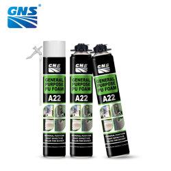 Los materiales de construcción de marcos para puertas de Propósito General Spray de poliuretano espuma adhesiva