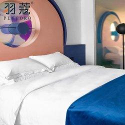 100% algodón liso Custom Hotel Casa de lujo francés puro conjuntos de ropa de cama Ropa de cama