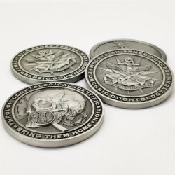 Fabrik-kundenspezifische Metallkunst-Fertigkeit-Schädel-Firmenzeichen-Andenken-Münzen-Militärehrenherausforderungs-Münzen-Bildschirmanzeige Collectors