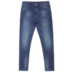 Jeans diritti dell'emolliente dei jeans del piedino di prezzi della Cina di vendita più poco costoso di stile degli uomini del Mens blu-chiaro scarno europeo caldo dei jeans per gli uomini