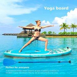 Scheda 2020 di pala gonfiabile del commercio all'ingrosso di alta qualità della Cina la nuova si leva in piedi in su il kajak del surf per la scheda eccellente della scheda di yoga dei pesci