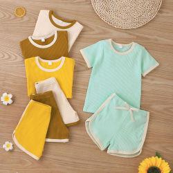ملابس الأطفال الجديدة تضع لباس الأطفال الصغير بالجملة قطن قطن مضلع للأطفال
