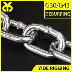 DIN5685A kurze Rundgliedkette Grade G30 Entgraten geschweißt Verzinkt Kette mit hoher Qualität