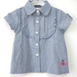 Las niñas Tie teñido de tejidos de punto bebé vestido de verano de algodón para niños