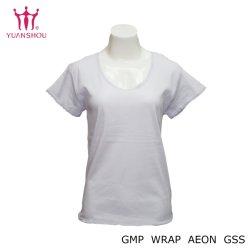 Manga Corta de algodón tejido personalizado/Deporte/Impreso/Cuello redondo/impresión/Plain Camisetas Camiseta de encaje de impresión para los hombres/mujeres Camiseta lisa de la marca del grupo