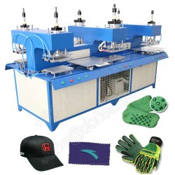 شعار السيليكون الملصقات 3D Plastisol ماكينة نقل الحرارة على القميص قماش نسيج الملابس