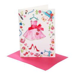 Obrigado a impressão de cartões em branco para transporte com envelopes