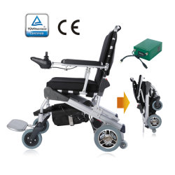 E-trono Ultra light robusto bastidor ligero Medicare 12'' alimentación plegable plegable silla de ruedas eléctrica con motores desmontables rápido