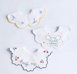 Ins Koreanisch Herbst New Baby Lätzchen Baumwolle Baby Speichel Handtuch Burp Tücher Rund Blütenblatt Reis Fütterung Tasche 0-2 Jahre Alt Für Baby